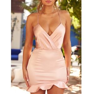 Oh Polly Satin Dress